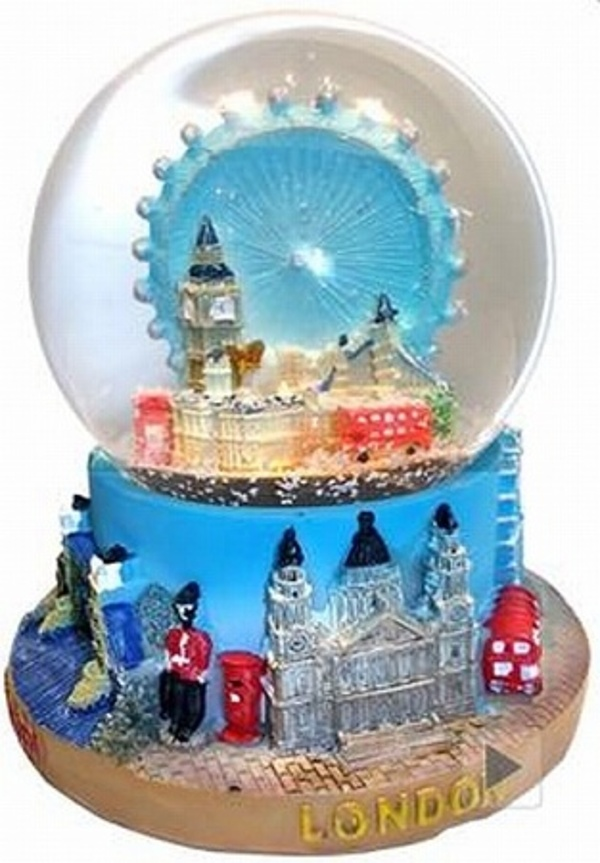 london eye schneekugel 10 5 cm tower bridge big ben buckingham palace ebay. Black Bedroom Furniture Sets. Home Design Ideas