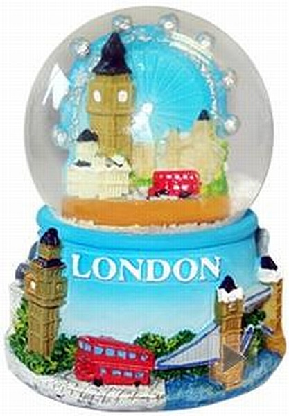 londra neve sfera con magnete eye tower bridge big ben inghilterra souvenir new ebay. Black Bedroom Furniture Sets. Home Design Ideas