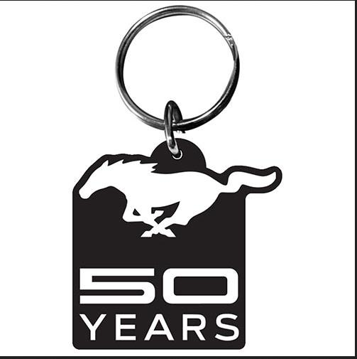 ford mustang pony car 50 years llavero acrylic keychain. Black Bedroom Furniture Sets. Home Design Ideas