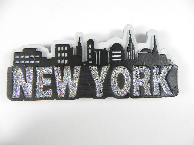 new york city magnet schriftzug 3d poly souvenir ebay. Black Bedroom Furniture Sets. Home Design Ideas