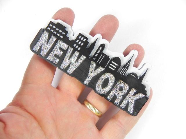 new york city magnet schriftzug 3d poly souvenir. Black Bedroom Furniture Sets. Home Design Ideas