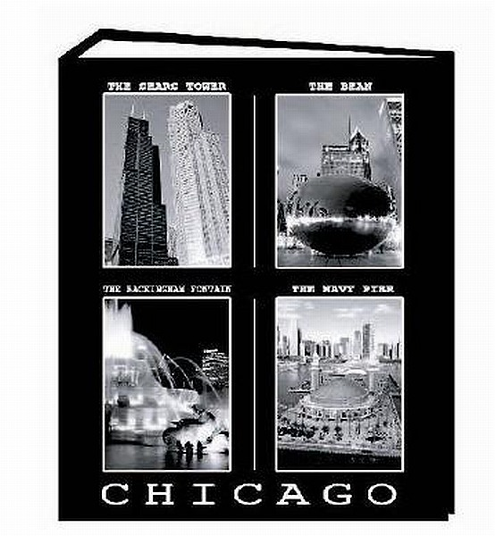 fotoalbum chicago f r 100 bilder 10x15 cm souvenir amerika photo album usa ebay. Black Bedroom Furniture Sets. Home Design Ideas
