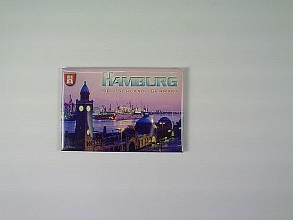 Magnet Hamburg Deutschland Germany,Foto Souvenir