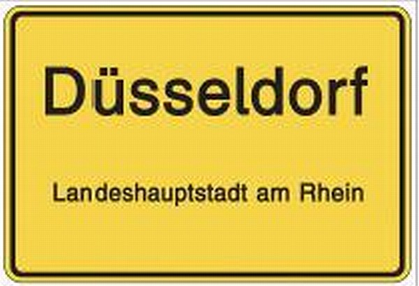 Magnet d sseldorf deutschland germany foto souvenir 8 cm - Dusseldorf wandtattoo ...
