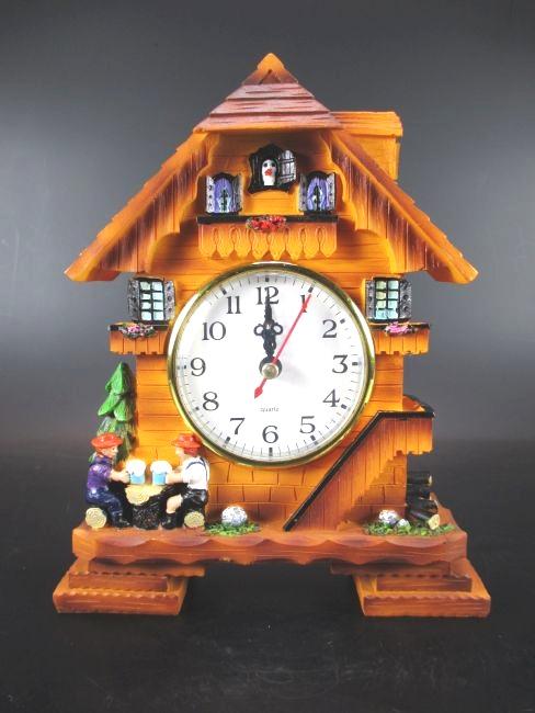 kuckucksuhr clock schwarzwald uhr 20 cm zum hinstellen. Black Bedroom Furniture Sets. Home Design Ideas