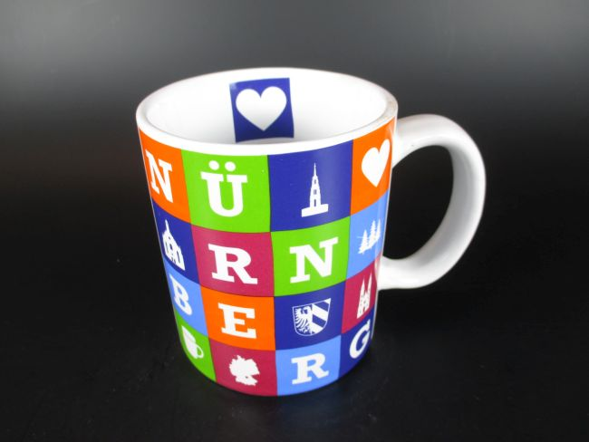 n rnberg kaffeetasse buchstaben becher souvenir tasse germany 300 ml ebay. Black Bedroom Furniture Sets. Home Design Ideas