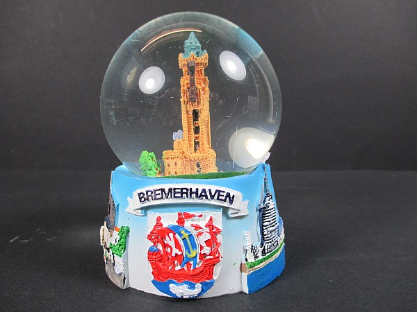 schneekugel bremerhaven snowglobe germany souvenir neu v lklingen saarland. Black Bedroom Furniture Sets. Home Design Ideas