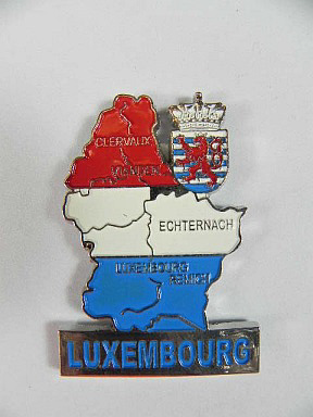 luxemburg luxembourg metall magnet umri landkarte souvenir neu ebay. Black Bedroom Furniture Sets. Home Design Ideas