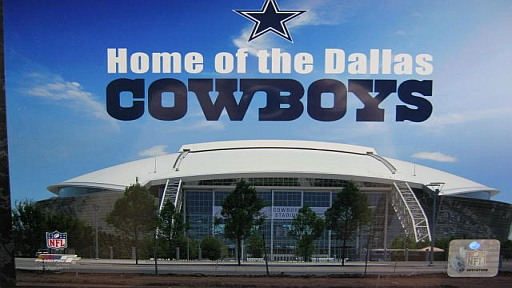 dallas cowboys stadium staduim nfl football 15in wood wall