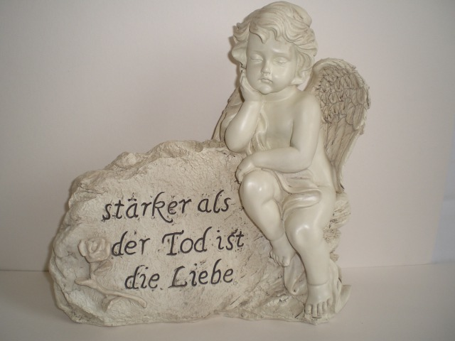 grabschmuck engel mit spruch 25 cm friedhof neu ebay. Black Bedroom Furniture Sets. Home Design Ideas