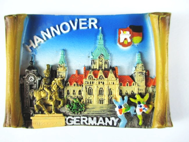 hannover polyresin magnet germany germany souvenir new