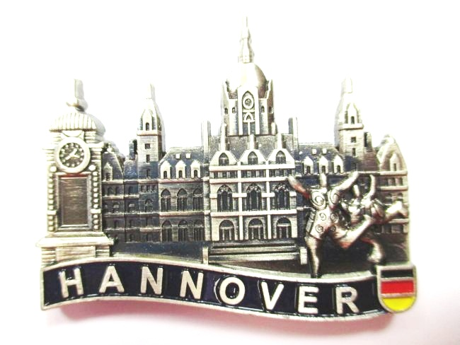Hannover kr pcke uhr magnet metall souvenir germany for Hannover souvenirs