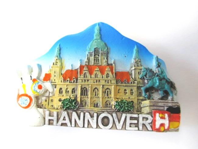 Hannover veduta della citt magnete poli rotolo 7 cm for Souvenir hannover