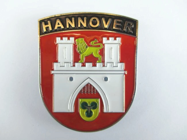 Hannover wappen metall magnet germany deutschland souvenir for Hannover souvenirs