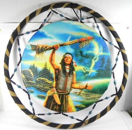 dreamcatcher indianer traumf nger 60cm h uptling ebay. Black Bedroom Furniture Sets. Home Design Ideas