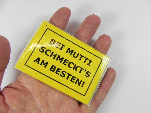 magnet gelb mit spruch k hlschrank 8 cm metall neu ebay. Black Bedroom Furniture Sets. Home Design Ideas