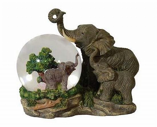 schneekugel elefant glitzerkugel spieluhr 18 cm neu ebay. Black Bedroom Furniture Sets. Home Design Ideas
