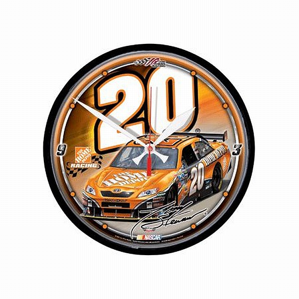 nascar tony stewart wand uhr wall clock 30 cm neu ebay. Black Bedroom Furniture Sets. Home Design Ideas