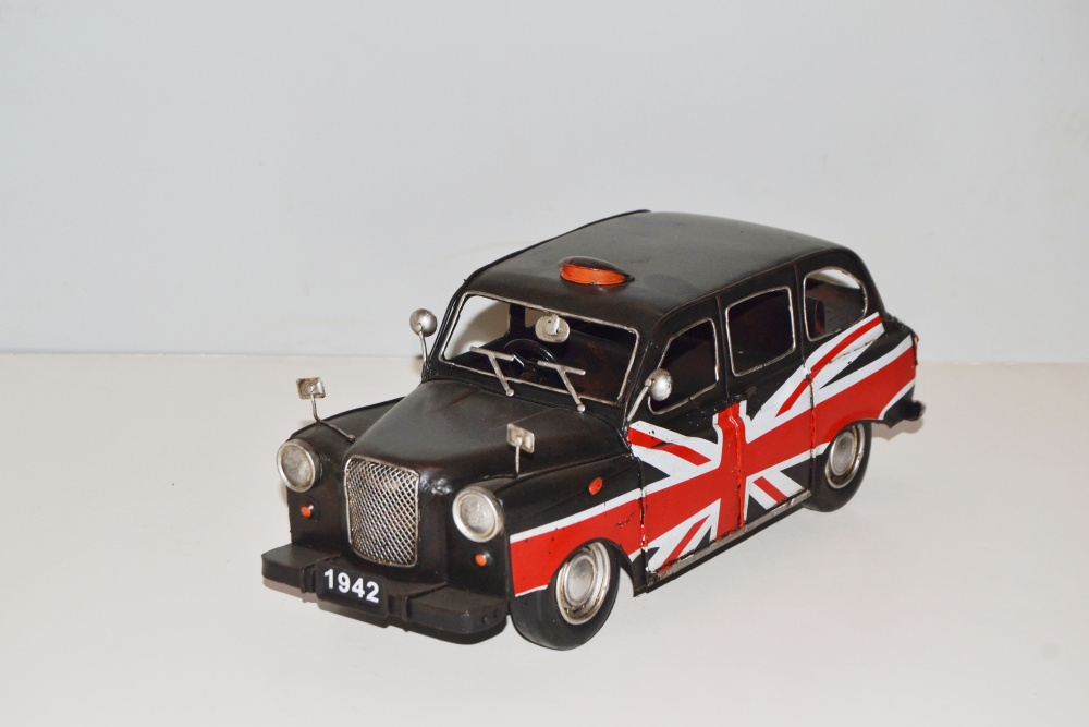 modellauto london taxi union jack nostalgie blechmodell metall 31 cm neu k ebay. Black Bedroom Furniture Sets. Home Design Ideas