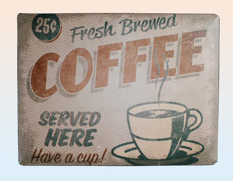 blechschild kaffee coffee nostalgie metall schild vintage look 40 cm neu ebay. Black Bedroom Furniture Sets. Home Design Ideas