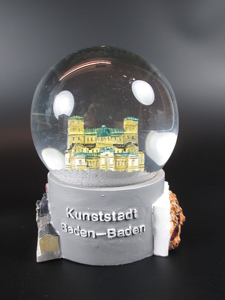 schneekugel baden baden friedrichsbad festspielhaus snowglobe germany souvenir ebay. Black Bedroom Furniture Sets. Home Design Ideas