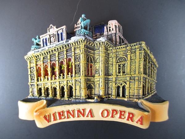 Wien magnet oper vienna,reise souvenir austria österreich aus poly