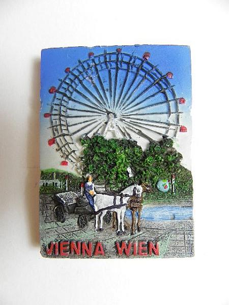 magnet wien prater riesenrad Österreich,souvenir relief  ~ Kühlschrank Wien