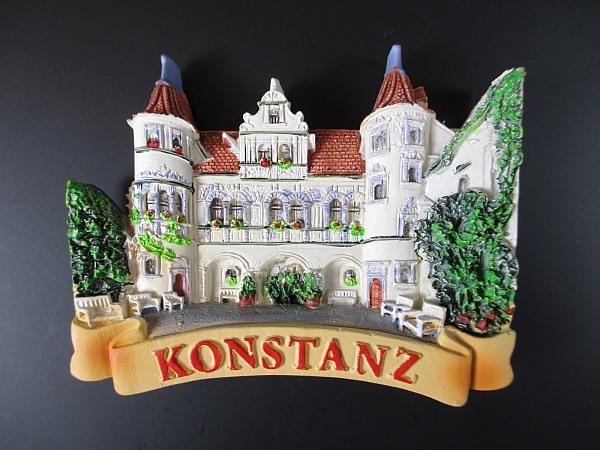 Konstanz-Rathaus-Germany-Souvenir-Magnet-Polyresin-Deutschland-Neu
