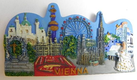 magnet wien stephansdom prater Österreich,souvenir relief  ~ Kühlschrank Wien