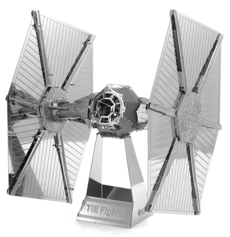 star wars tie fighter 3d metall puzzle modell laser cut bausatz neu ebay. Black Bedroom Furniture Sets. Home Design Ideas