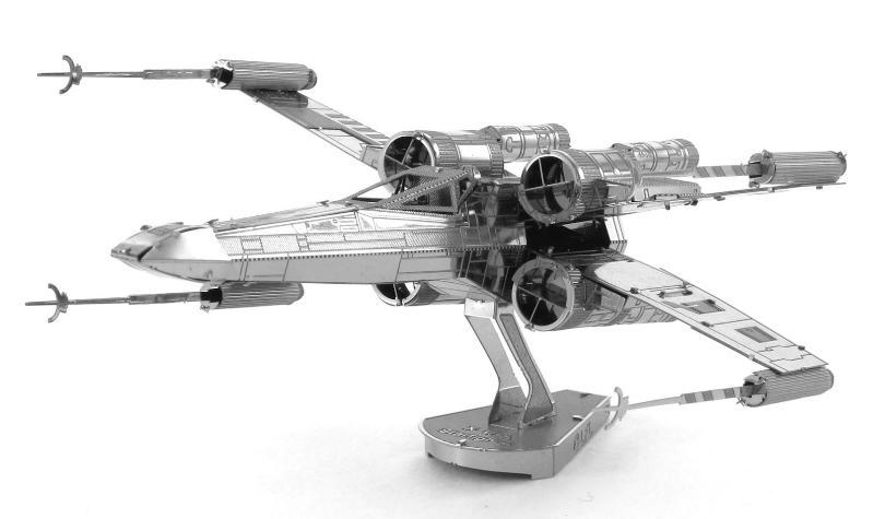 star wars x wing fighter 3d metall puzzle modell laser cut bausatz neu ebay. Black Bedroom Furniture Sets. Home Design Ideas