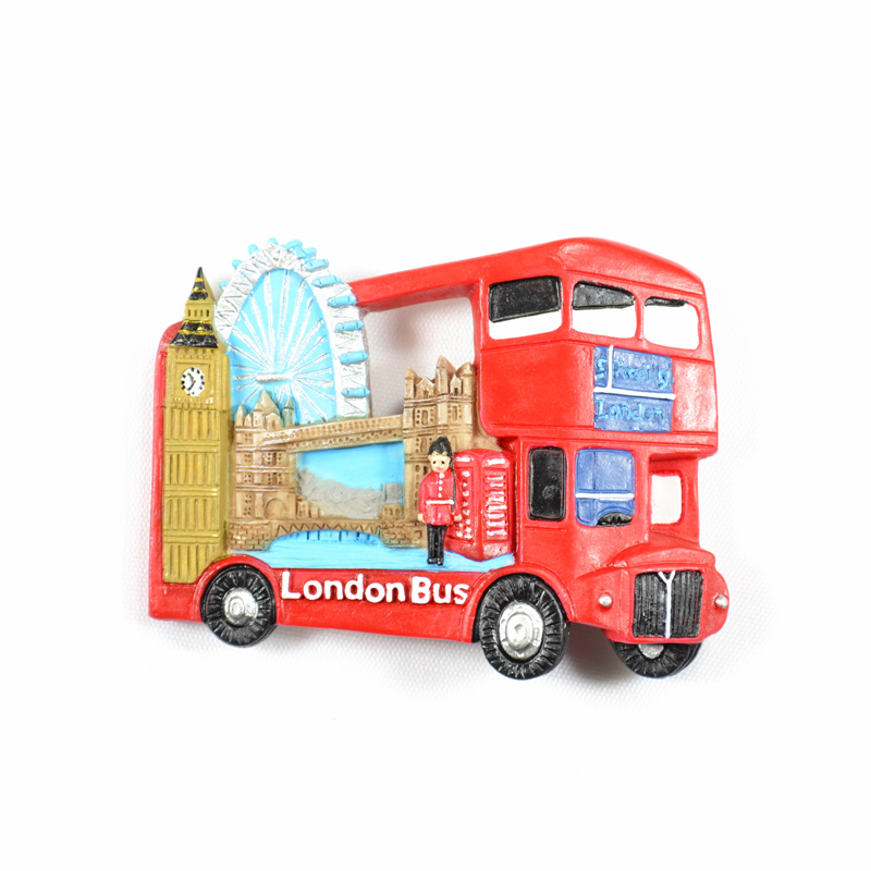 london bus big ben tower bridge eye fridge poly magnet. Black Bedroom Furniture Sets. Home Design Ideas