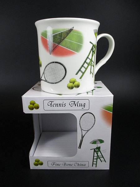 tennis kaffeetasse fine bone china porzellan kaffeebecher. Black Bedroom Furniture Sets. Home Design Ideas