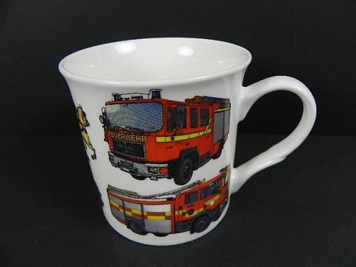 feuerwehr kaffeetasse fine bone china porzellan kaffeebecher coffee mug neu ebay. Black Bedroom Furniture Sets. Home Design Ideas