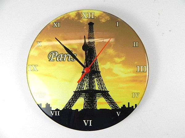 wanduhr paris eiffelturm 20 cm souvenir frankreich neu ebay. Black Bedroom Furniture Sets. Home Design Ideas