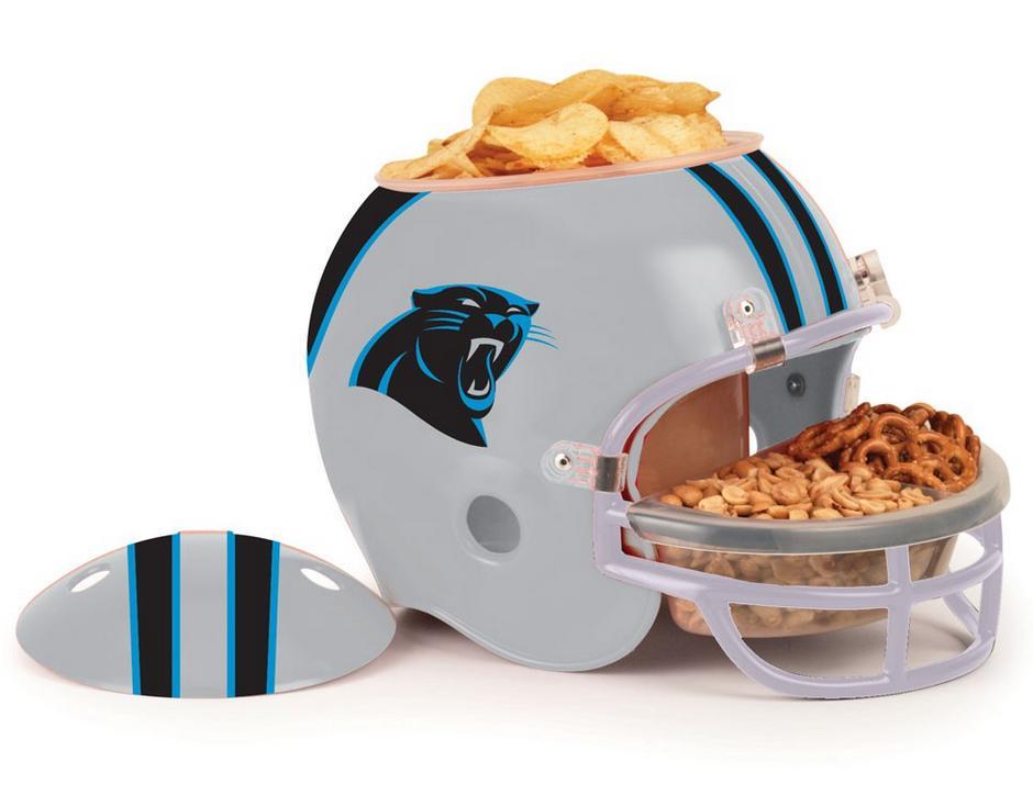 carolina panthers snack helm helmet full size nfl football f r ihre party ebay. Black Bedroom Furniture Sets. Home Design Ideas