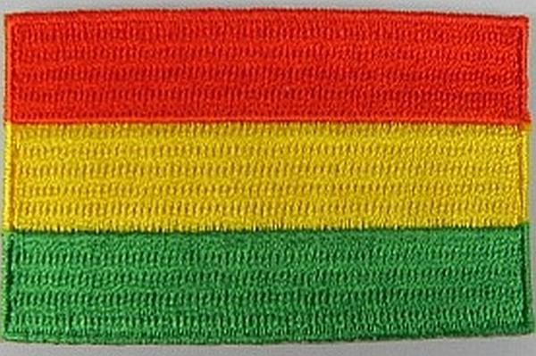 BOLIVIEN-Aufnaeher-gestickt-Flagge-Fahne-Patch-Aufbuegler-Bolivia-6-5cm-NEU