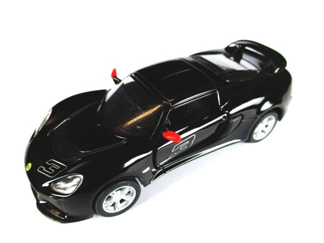 lotus exige s 2012 model car 1 32 diecast model car kinsmart black ebay. Black Bedroom Furniture Sets. Home Design Ideas