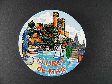 lloret de mar magnet spanien souvenir spain 6 cm k hlschrankmagnet aus keramik. Black Bedroom Furniture Sets. Home Design Ideas