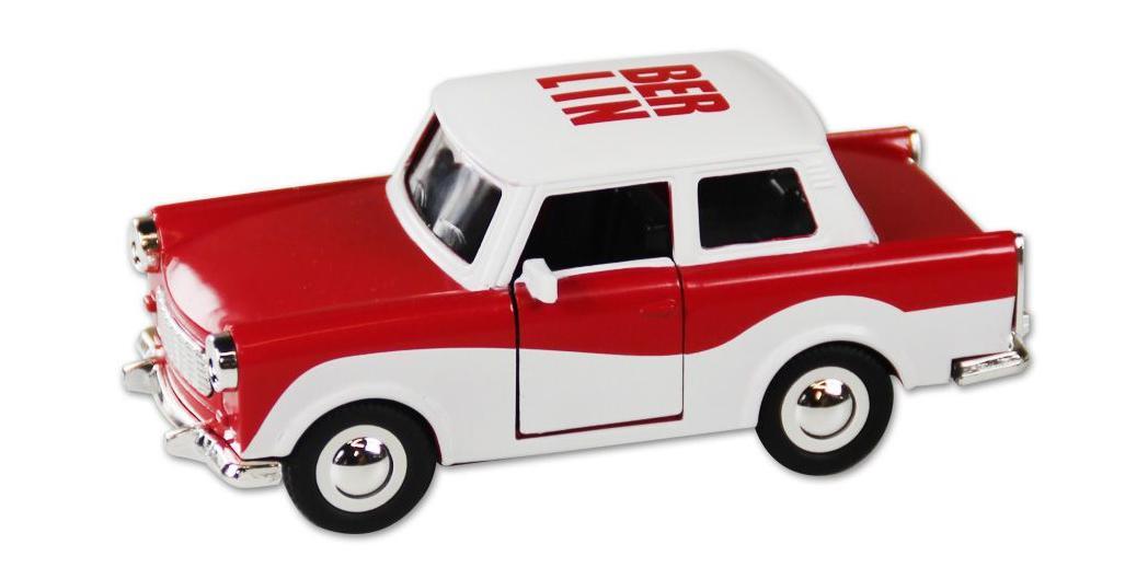 trabi trabant berlin rot wei modellauto ddr metall 12 cm neu ebay. Black Bedroom Furniture Sets. Home Design Ideas