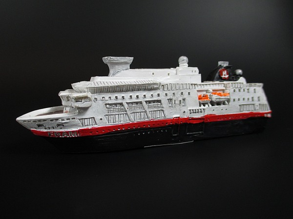 schiff modell passagierschiff ms finnmarken norwegen hurtigruten 18 cm poly ebay. Black Bedroom Furniture Sets. Home Design Ideas