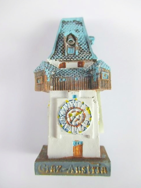 Graz Clock tower Magnet 3D Look 6 cm,Souvenir Austria,New