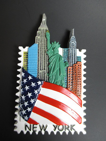 new york city magnet freiheitsstatue empire chrysler 8 cm. Black Bedroom Furniture Sets. Home Design Ideas