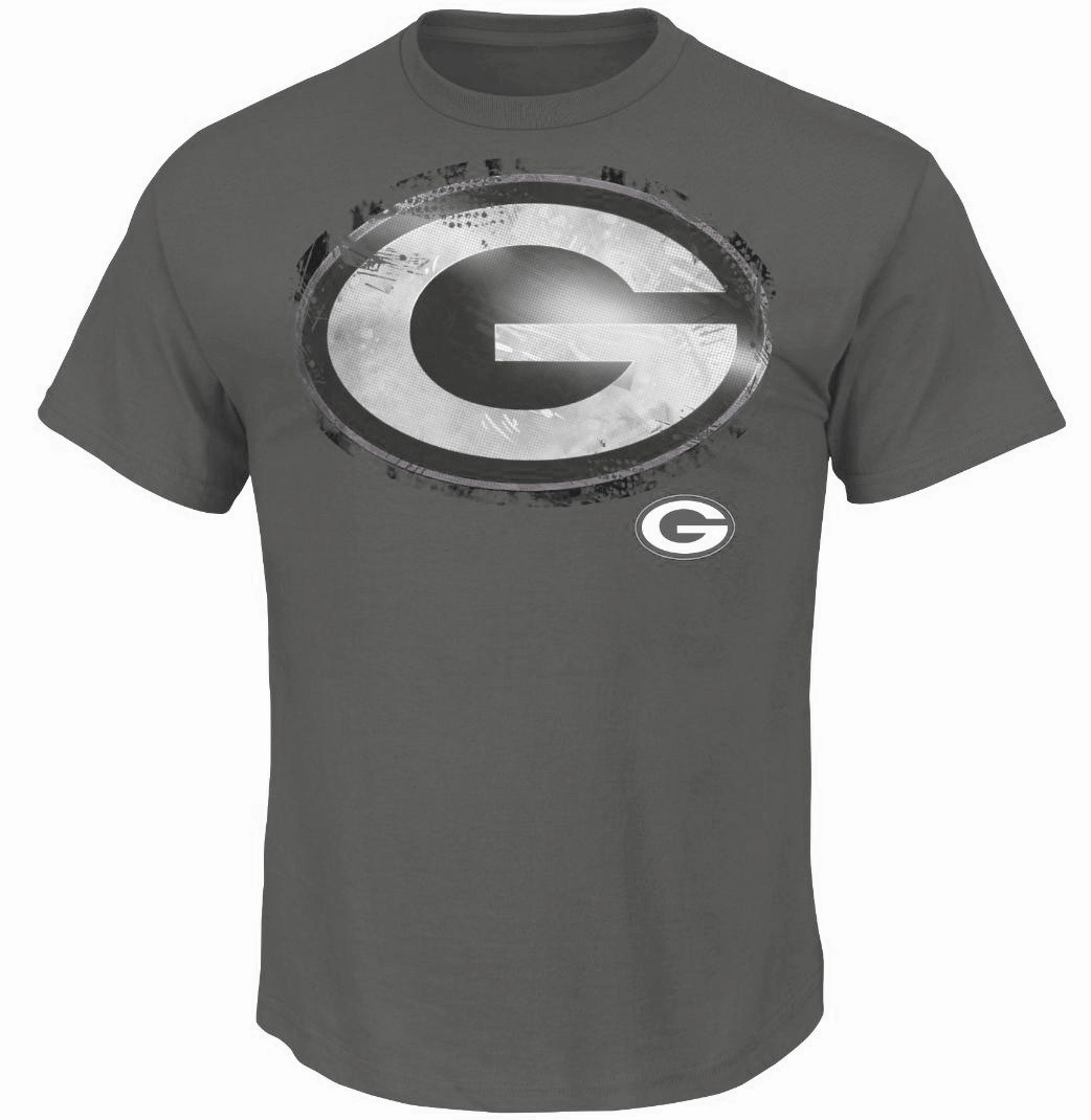 Green bay packers majestic t shirt vintage look nfl for Green bay packers retro shirt