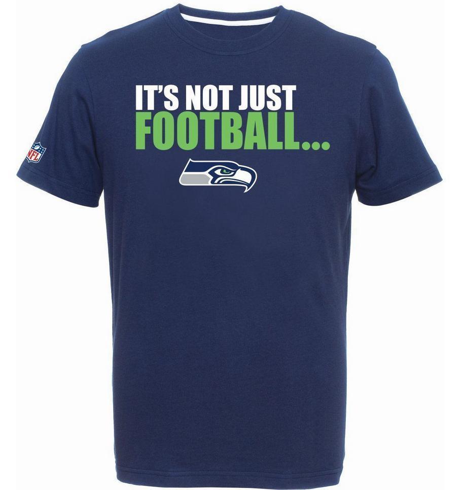 Seattle Seahawks T Shirt Tee Nfl Football Majestic It S