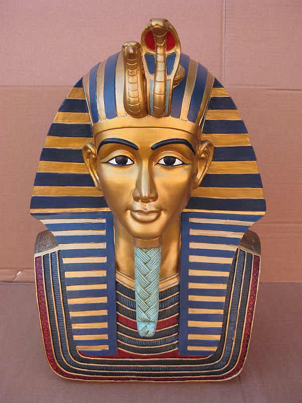 totenmaske gypten pharao tut ench amun 49 cm polyresin modell hammer ebay. Black Bedroom Furniture Sets. Home Design Ideas