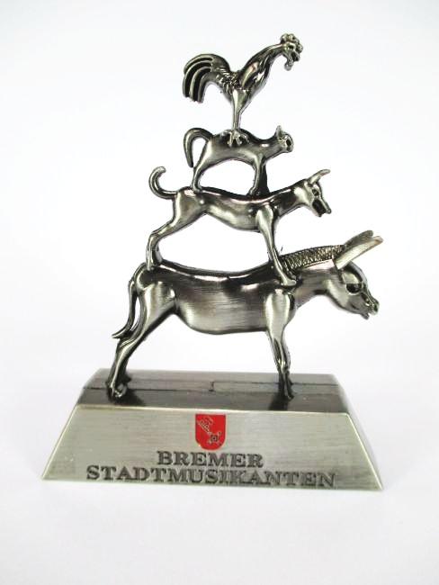 bremen bremer stadtmusikanten souvenir metall modell 11 cm germany neu ebay. Black Bedroom Furniture Sets. Home Design Ideas