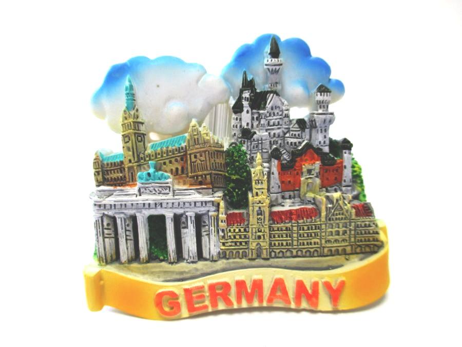 Berlin Picture Frame Poly 19 CM Souvenir Germany Dom Church Gate Victory Column