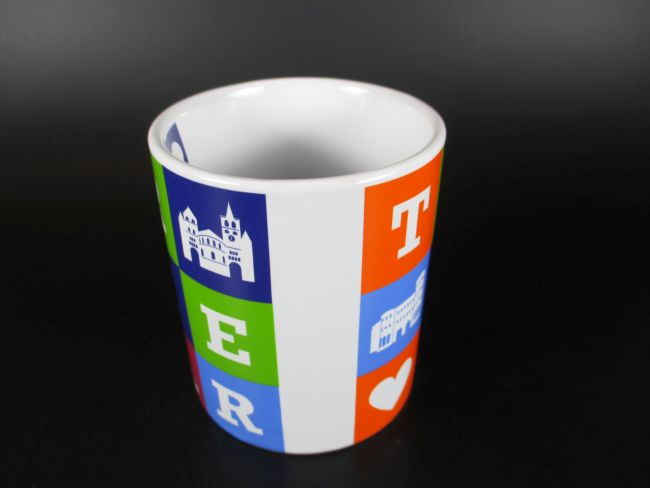 trier kaffeetasse buchstaben becher souvenir tasse germany. Black Bedroom Furniture Sets. Home Design Ideas