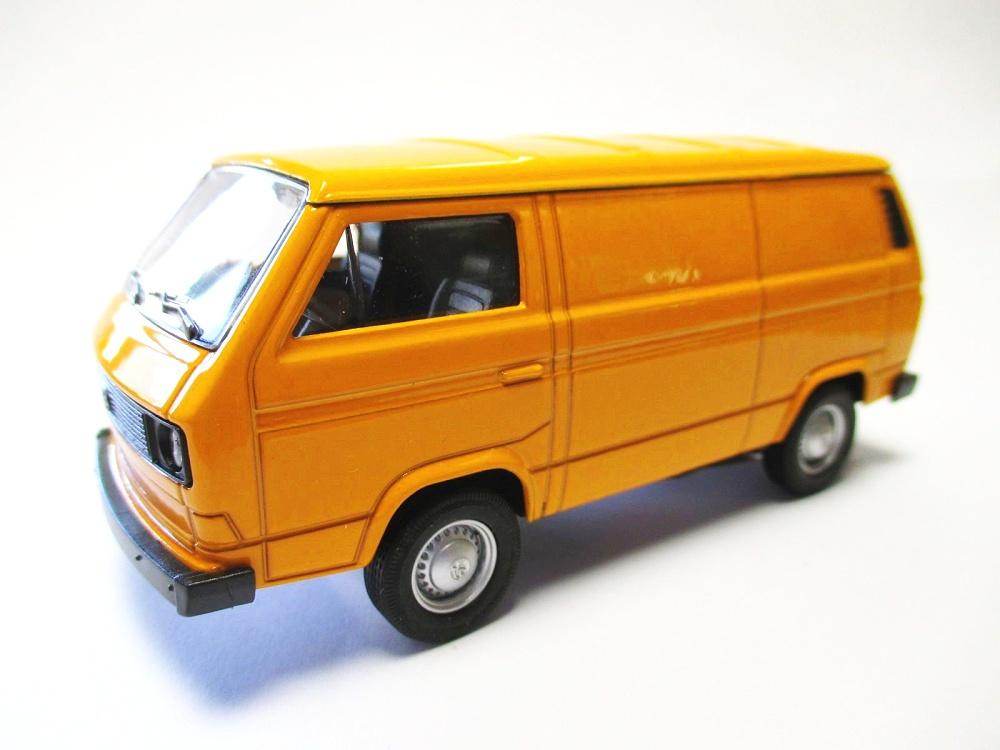 vw volkswagen t3 transporter orange model car metal 1 3 4. Black Bedroom Furniture Sets. Home Design Ideas